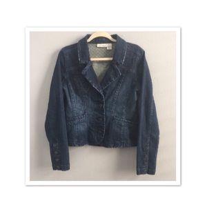 DKNY Blazer Style Denim Jean Jacket